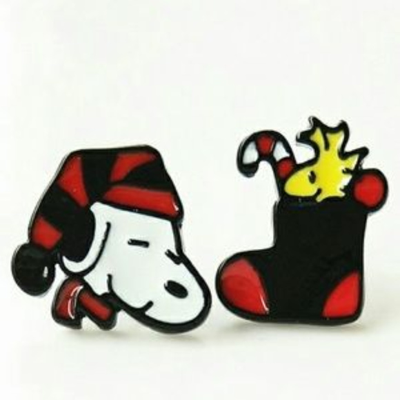 Snoopy And Woodstock Christmas.Snoopy Woodstock Christmas Earrings Nwt Nwt